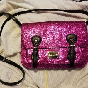 Rare Pink Glitter Betsey Johnson crossbody
